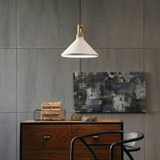 1 lot 2 pcs white modern wood grain pattern aluminum pendant lamp conical shape office light