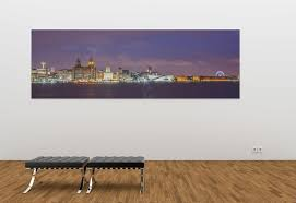 on manchester skyline wall art with liverpool skyline panoramic canvas