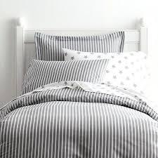 gray striped duvet cover pinstripe bedding bed linen pale blue white seerer