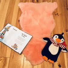 baby irish pink lambskin rug size 80cm