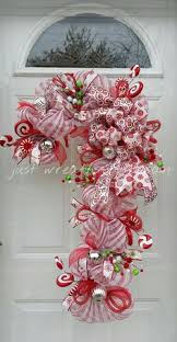 Candy Cane Candle Holders I Made Last Night  My Wreaths Candy Cane Wreath Christmas Craft