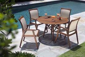 opal 48 inch round table with topaz dining chairs