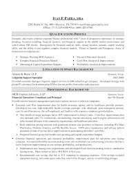 Sample Resume Investment Banking 20 Internship Objective For