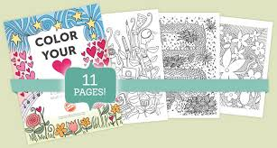 Free Adult Coloring Book 9 Beautiful Pages To Color