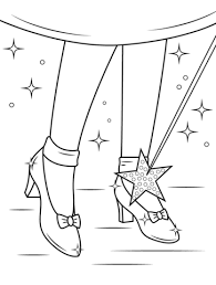 Small Picture Ruby Shoes coloring page Free Printable Coloring Pages