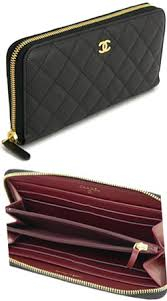 chanel zip wallet. chanel chanel large zip around wallet matelasse line caviar skin cc mark black pearl white grey a