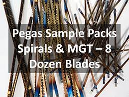 Pegas Scroll Saw Sample Pack Spiral And Mgt