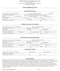 medical patient registration form medical and patient forms evergreen doctor medical offices of