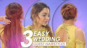 3 Easy Wedding Guest Hairstyle Tutorial Diy Hairstyles For Indian