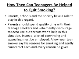 Help for teens quit smoking
