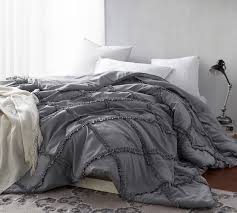 alloy gathered ruffles handcrafted series oversized king xl comforter