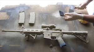 How to Camouflage a Rifle(AR15) - YouTube