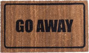 Go Away Black Design - Coco Mats - | Coco Mats N' More
