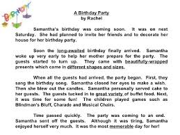 star compositions a birthday party check out the adjectives jpg cb  invitation letter for my birthday party image collections birthday party invitation essay