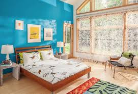 blue wall paint bedroom. Brilliant Blue Bold Blue Paint Bedroom Throughout Blue Wall Paint Bedroom