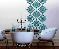 image of damask vinyl wall decals