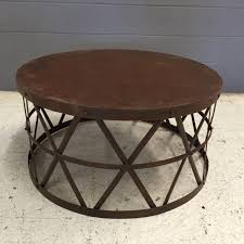 furniture vintage round metal coffee table withalaugh design latest pretty glass top with base