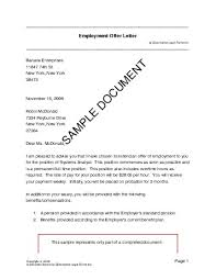 Employment Offer Letter (Mexico) - Legal Templates - Agreements ...