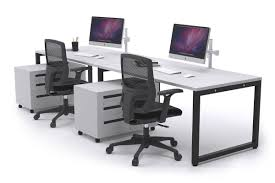 office workstations desks. Litewall Evolve - 2 Person Office Workstation Desk Run Workstations Desks L