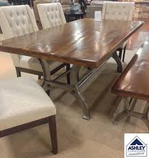 Ranimar Dining Room Table Thick Plank Tabletop Crafted Of Solid - Solid wood dining room tables