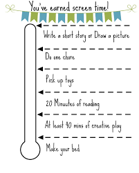 Screen Time Recommendations By Age Chart Free Printable Screen Time Chart Chores For Kids Summer