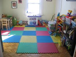 Decorations:Colorful Kid Playroom Design Ideas With Red Color Domination  Adorable Kids Playroom Design With