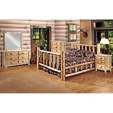 Rustic bedroom furniture sets Barn Door Bedroom Rustic Pc Pine Log Bedroom Suite Lodge Bed queen Amazoncom Rustic Bedroom Furniture Sets Amazoncom