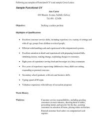 waitress sample resume resume templates waitress cv sample pdf examples example uk