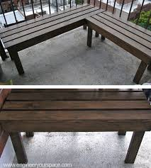 picture of diy outdoor wood bench