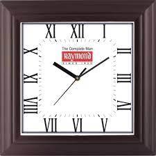 logo printed square wall clock प रत क