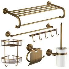 antique brass bathroom hardware sets. antique brass golden vintage bathroom accessories sets hardware t