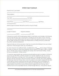 Daycare Contract Template Free Home Daycare Contract Template Jaxos Co