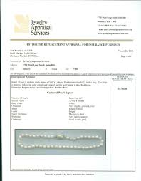 jewelry appraisal services inc