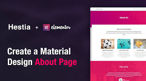 Sites That Use Material Design How To Create A Material Design About Page Using Elementor