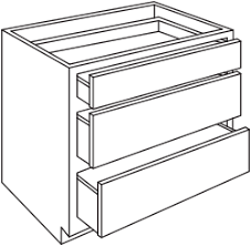 Drawerbase Unfinished Cabinet Drawers E87