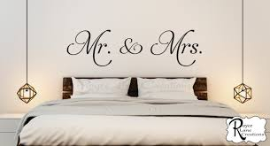 mr and mrs vinyl bedroom wall decal bedroom decor