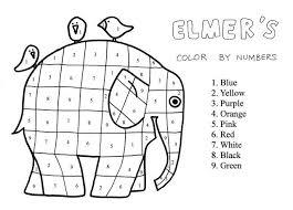 Più Ricercato Storia Di Elmer Da Colorare Disegni Da Colorare