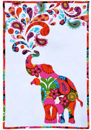 free pattern = Paisley Splash elephant quilt by Myiesha & Katie ... & free pattern = Paisley Splash elephant quilt by Myiesha & Katie for Windham  Fabrics - includes applique templates :: I'd have used more traditional  styling; ... Adamdwight.com