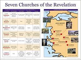 Book Of Revelation Chart Seven Churches Of The Revelation Chart Amazon Com Books