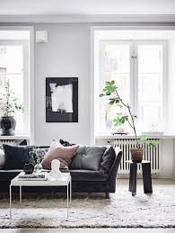 black couch living room