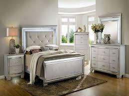 Bedroom: Silver Bedroom Furniture Inspirational Bellanova Silver  Upholstered Panel Bedroom Set Cm7979sv Q Furniture Of