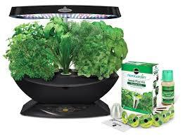 com aerogarden 7 led indoor garden with gourmet herb seed kit garden outdoor