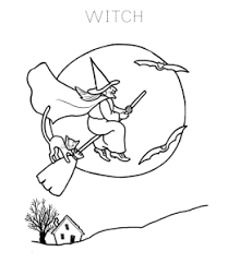 Halloween Witch Coloring Sheets Playing Learning