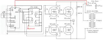 aaron's homepage forum queries on dc to ac circuit using 555 timer Sine Wave Inverter Circuit Diagram download attachment 20081910308_modified sine wave inverter schematic png sine wave inverter circuit diagramusing 555