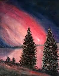 saatchi art artist vandana mehta painting northern lights art
