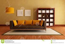 Yellow Brown Living Room Living Room Living Room Grey Fabric Sofa And Orange Grey