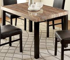 amazon furniture of america bahia contemporary faux marble top dining table tables