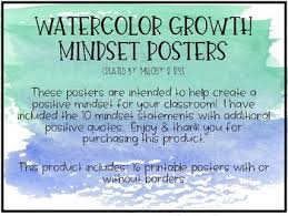 Mindset Quotes Amazing Watercolor Growth Mindset Posters By Melody R Rice TpT