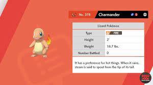 get charmander in pokemon sword shield