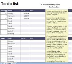 Todo List In Excel Printable To Do List Excel Template Printable To Do List